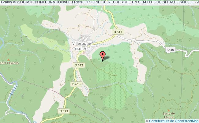 plan association Association Internationale Francophone De Recherche En Semiotique Situationnelle - Aifressi - Villerouge-Termenès
