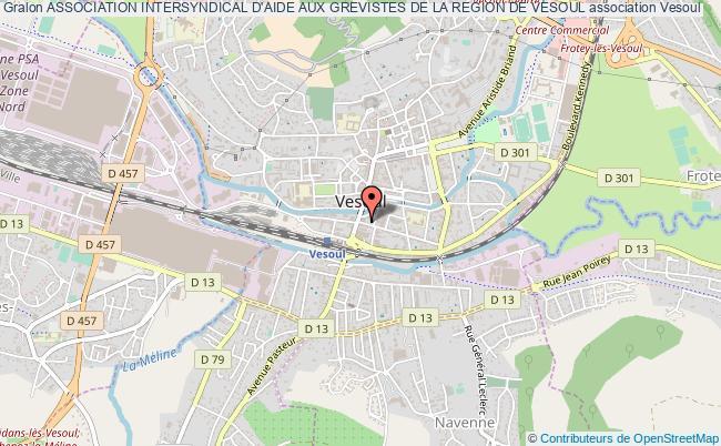 plan association Association Intersyndical D'aide Aux Grevistes De La Region De Vesoul Vesoul