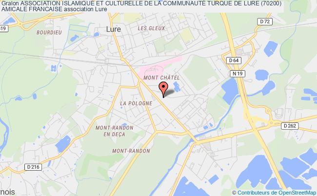 plan association Association Islamique Et Culturelle De La CommunautÉ Turque De Lure (70200)  Amicale Francaise