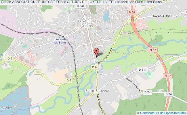 plan association Association Jeunesse Franco Turc De Luxeuil (ajftl)