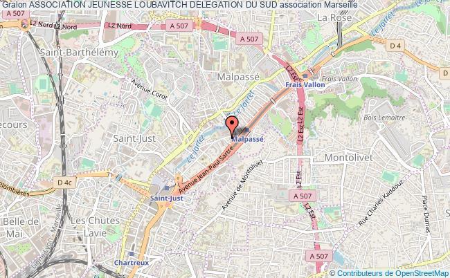 plan association Association Jeunesse Loubavitch Delegation Du Sud Marseille
