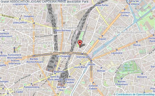 plan association Association Jogaki Capoeira Paris