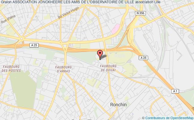 plan association Association Jonckheere Les Amis De L'observatoire De Lille