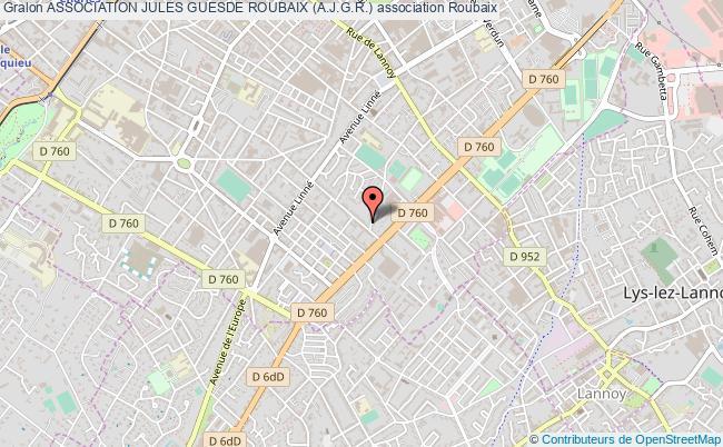 plan association Association Jules Guesde Roubaix (a.j.g.r.) Roubaix