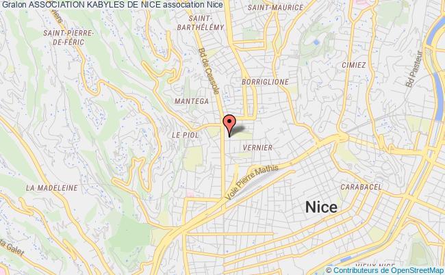 plan association Association Kabyles De Nice