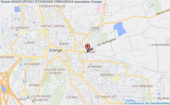 plan association Association L'echiquier Orangeois
