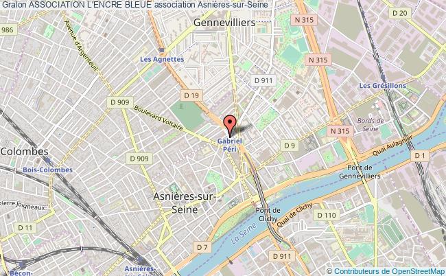 plan association Association L'encre Bleue Asnières-sur-Seine