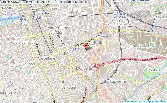 plan association Association L'enfant Genie Marseille