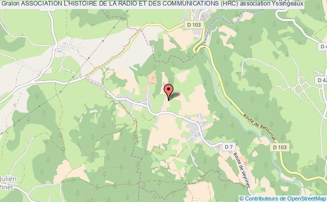 plan association Association L'histoire De La Radio Et Des Communications (hrc) Monistrol-sur-Loire