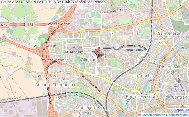 plan association Association La Boite A Rythmes Rennes