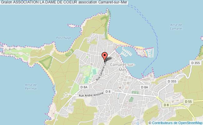 plan association Association La Dame De Coeur Camaret-sur-Mer