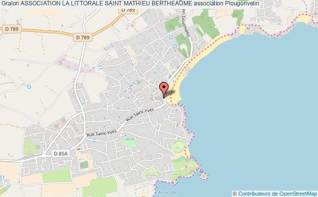 plan association Association La Littorale Saint Mathieu Bertheaume