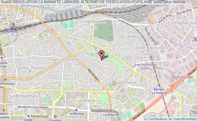 plan association Association La Marmite Librairie Alternative D'education Populaire Rennes