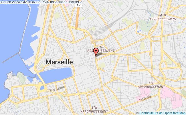 plan association Association La Paix Marseille