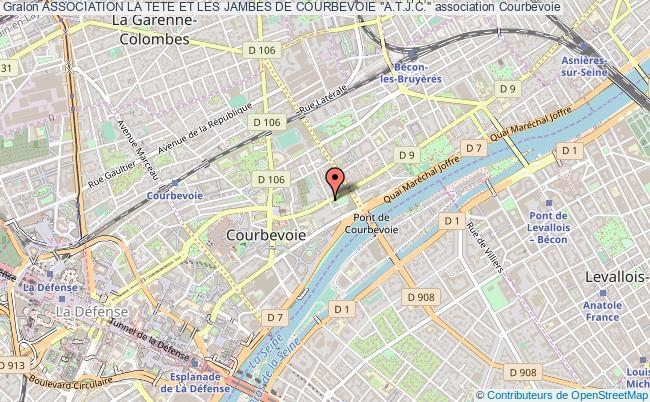 """plan association Association La Tete Et Les Jambes De Courbevoie """"a.t.j.c."""" Courbevoie"""