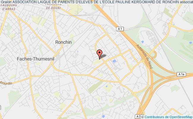 plan association Association Laique De Parents D'eleves De L'ecole Pauline Kergomard De Ronchin Ronchin