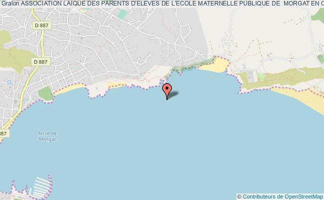 plan association Association Laique Des Parents D'eleves De L'ecole Maternelle Publique De  Morgat En Crozon