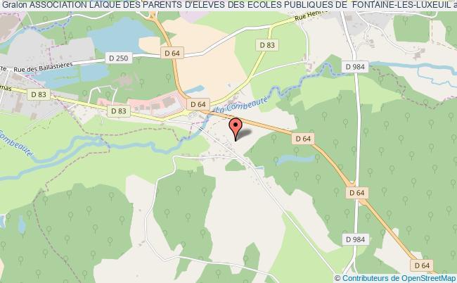 plan association Association Laique Des Parents D'eleves Des Ecoles Publiques De  Fontaine-les-luxeuil