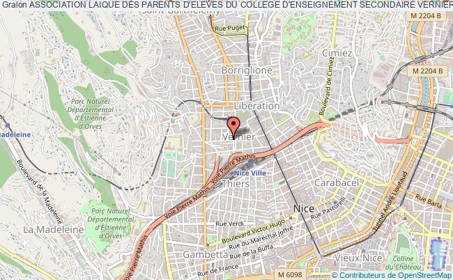 plan association Association Laique Des Parents D'eleves Du College D'enseignement Secondaire Vernier-auber