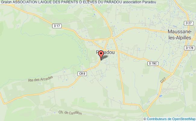 plan association Association Laique Des Parents D Eleves Du Paradou