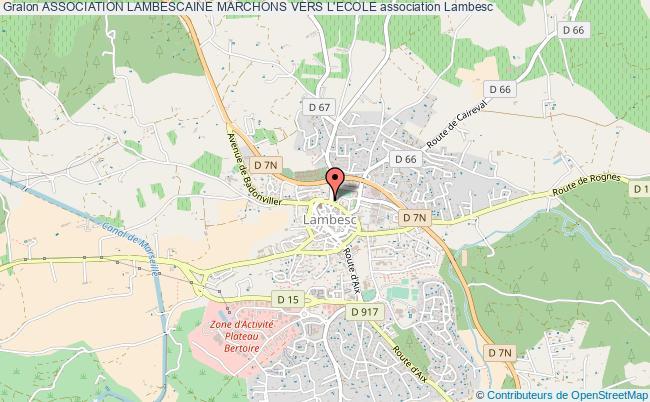 plan association Association Lambescaine Marchons Vers L'ecole