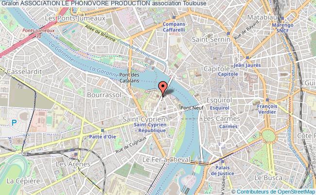 plan association Association Le Phonovore Production Toulouse