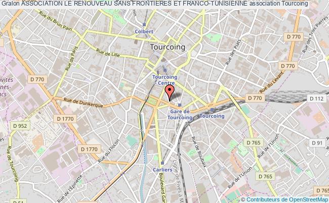 plan association Association Le Renouveau Sans Frontieres Et Franco-tunisienne