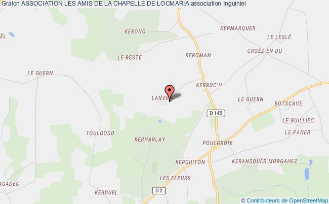 plan association Association Les Amis De La Chapelle De Locmaria Inguiniel