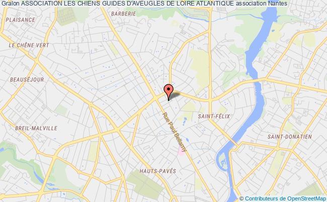 plan association Association Les Chiens Guides D'aveugles De Loire Atlantique