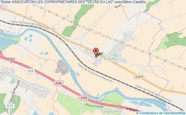 """plan association Association Les Coproprietaires Des """"villas Du Lac"""""""