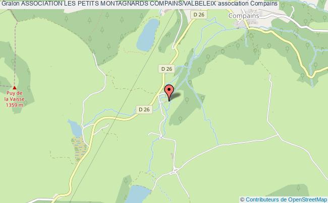 plan association Association Les Petits Montagnards Compains/valbeleix Compains