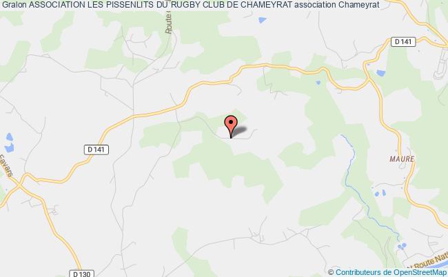 plan association Association Les Pissenlits Du Rugby Club De Chameyrat