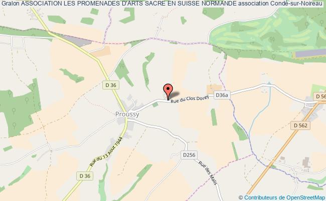 plan association Association Les Promenades D'arts Sacre En Suisse Normande la    Chapelle-Engerbold