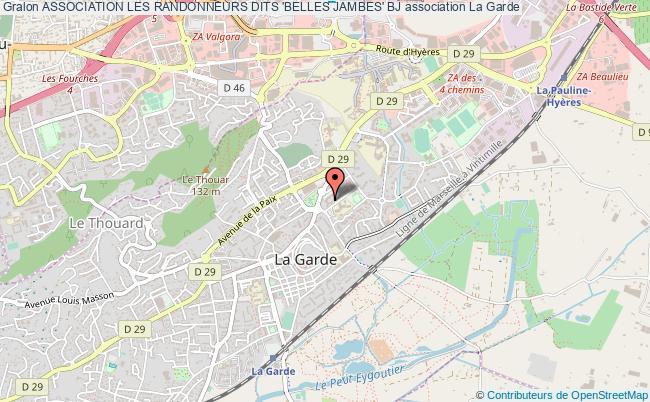 plan association Association Les Randonneurs Dits 'belles Jambes' Bj