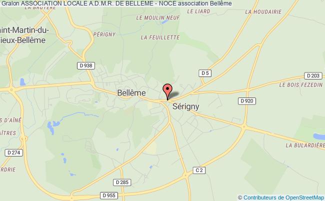 plan association Association Locale A.d.m.r. De Belleme - Noce