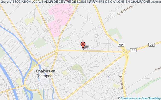 plan association Association Locale Admr De Centre De Soins Infirmiers De Chalons-en-champagne
