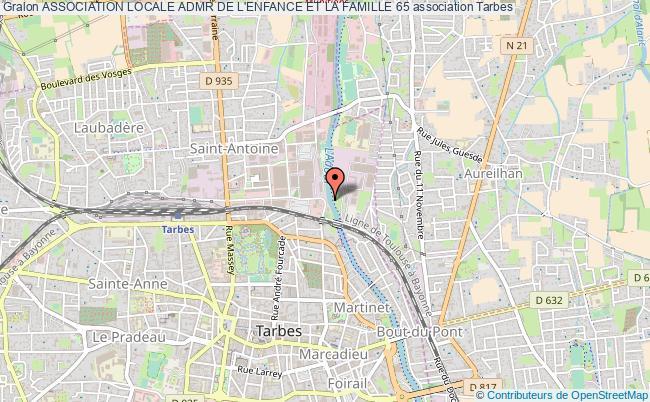 plan association Association Locale Admr De L'enfance Et La Famille 65 Tarbes