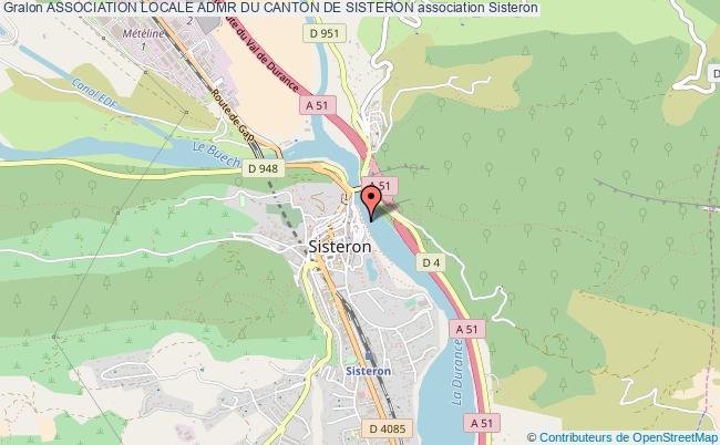plan association Association Locale Admr Du Canton De Sisteron