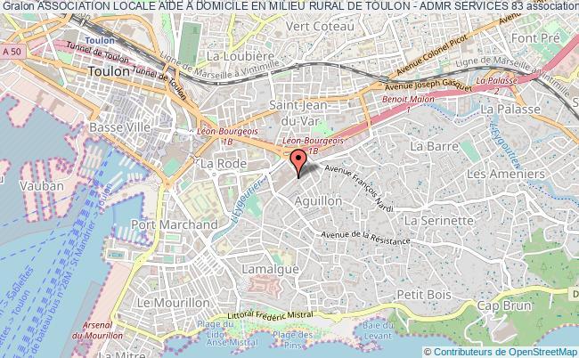 plan association Association Locale Aide A Domicile En Milieu Rural De Toulon - Admr Services 83