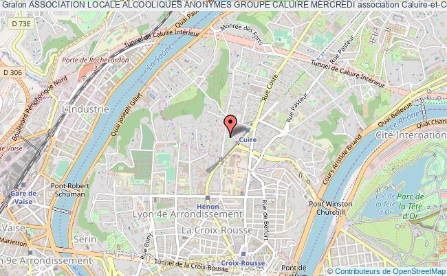 plan association Association Locale Alcooliques Anonymes Groupe Caluire Mercredi