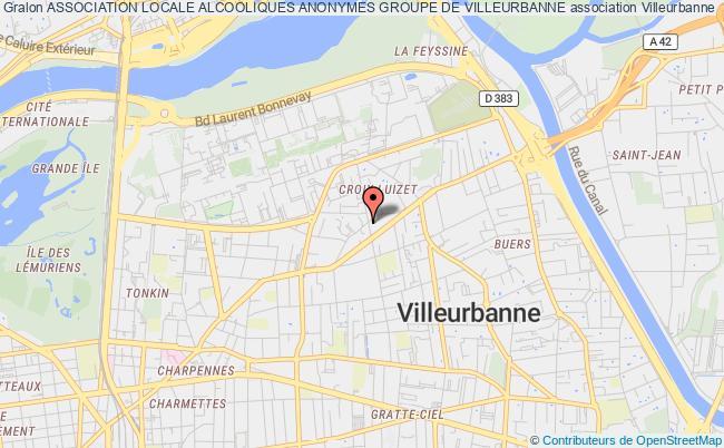 plan association Association Locale Alcooliques Anonymes Groupe De Villeurbanne