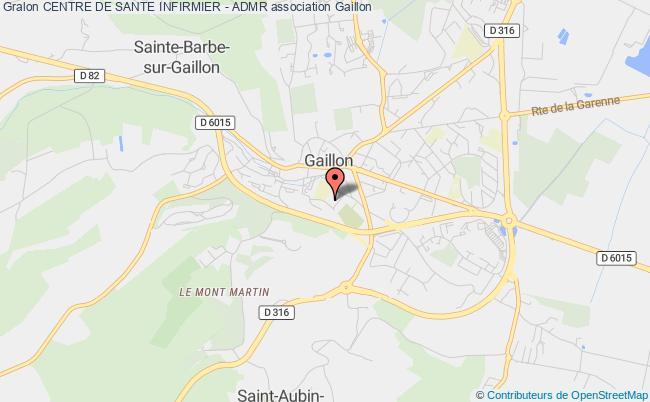plan association Association Locale Centre De Sante Infirmier - Admr Gaillon