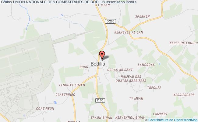 plan association Association Locale De Bodilis De L'union Nationale Des Combattants Du Departement Du FinistÈre