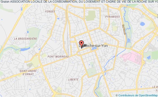plan association Association Locale De La Consommation, Du Logement Et Cadre De Vie De La Roche Sur Yon (c.l.c.v.) La    Roche-sur-Yon