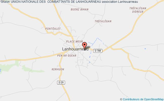 plan association Association Locale De Lanhouarneau De L'union Nationale Des Combattants Du Departement Du Finistere