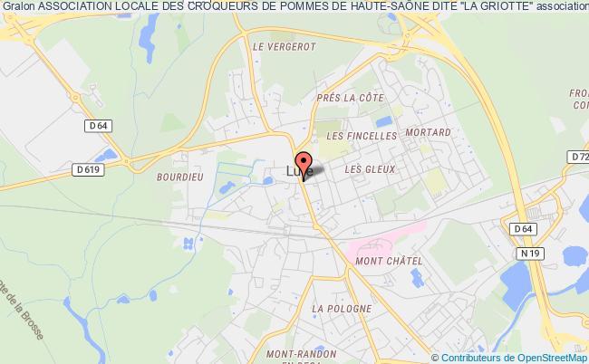 """plan association Association Locale Des Croqueurs De Pommes De Haute-saÔne Dite """"la Griotte"""""""