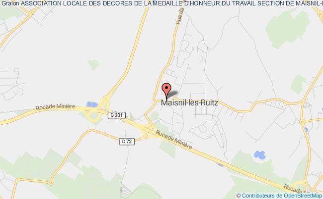 plan association Association Locale Des Decores De La Medaille D'honneur Du Travail Section De Maisnil-lez-ruitz