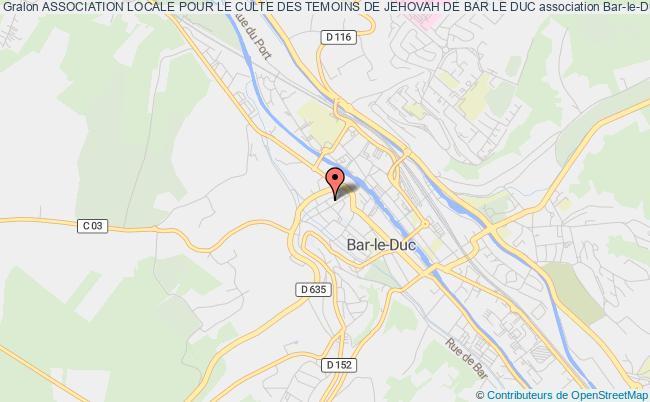 plan association Association Locale Pour Le Culte Des Temoins De Jehovah De Bar Le Duc