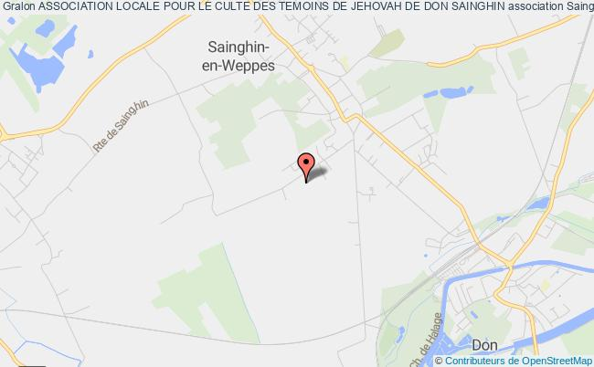 plan association Association Locale Pour Le Culte Des Temoins De Jehovah De Don Sainghin