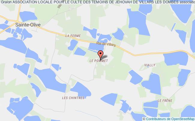 plan association Association Locale Pour Le Culte Des Temoins De Jehovah De Villars Les Dombes